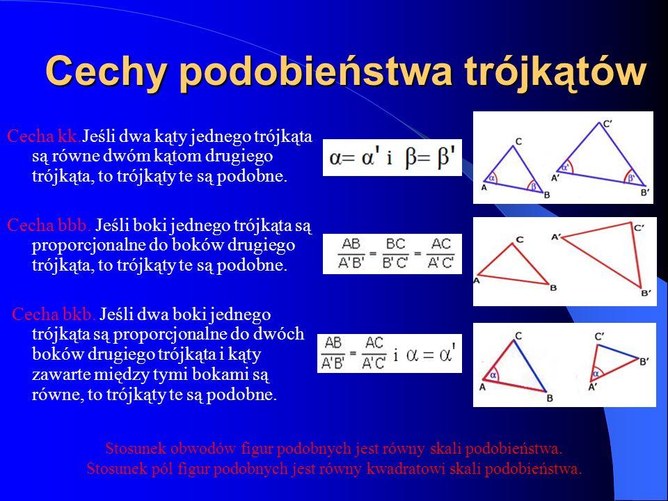 Cechy podobieństwa trójkątów