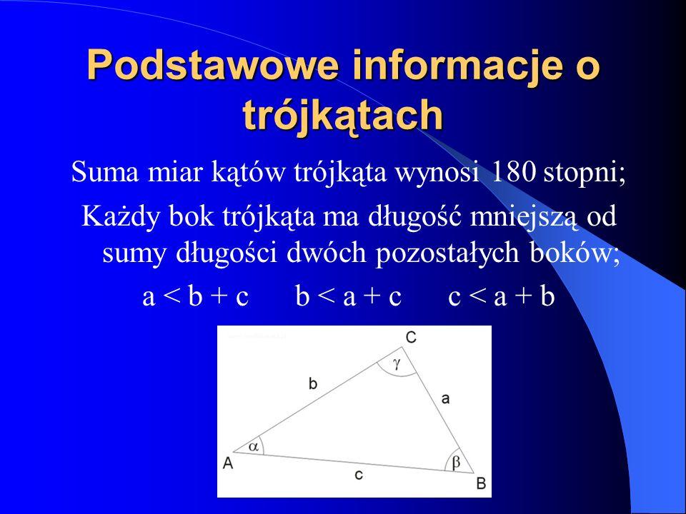 Podstawowe informacje o trójkątach