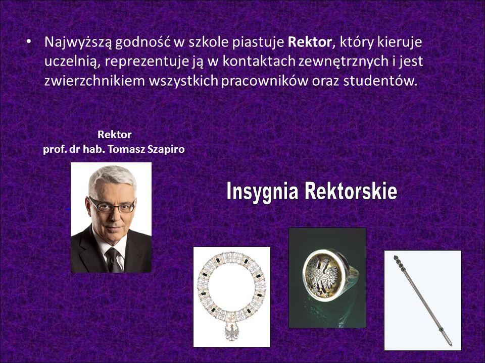 Rektor prof. dr hab. Tomasz Szapiro