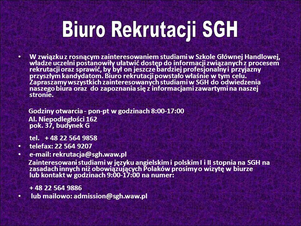 Biuro Rekrutacji SGH