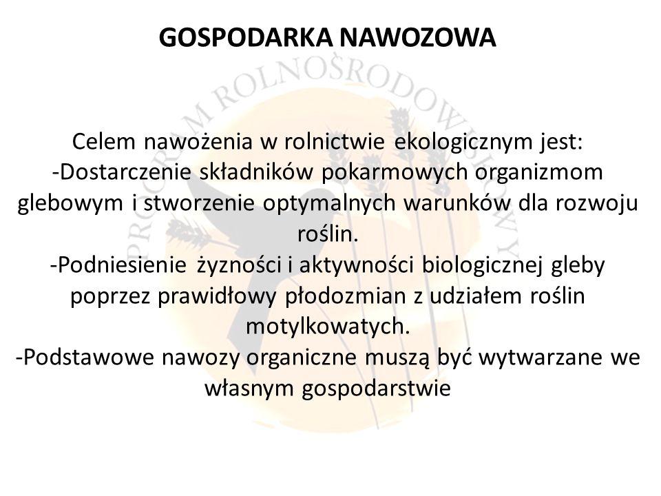 Celem nawożenia w rolnictwie ekologicznym jest:
