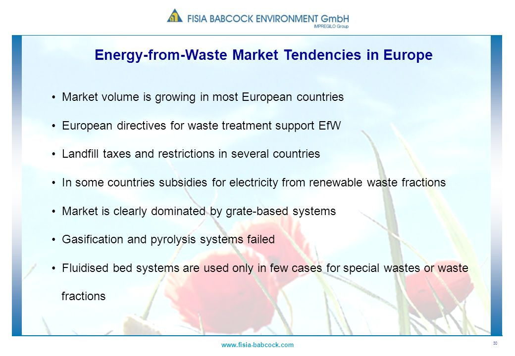 Energy-from-Waste Market Tendencies in Europe