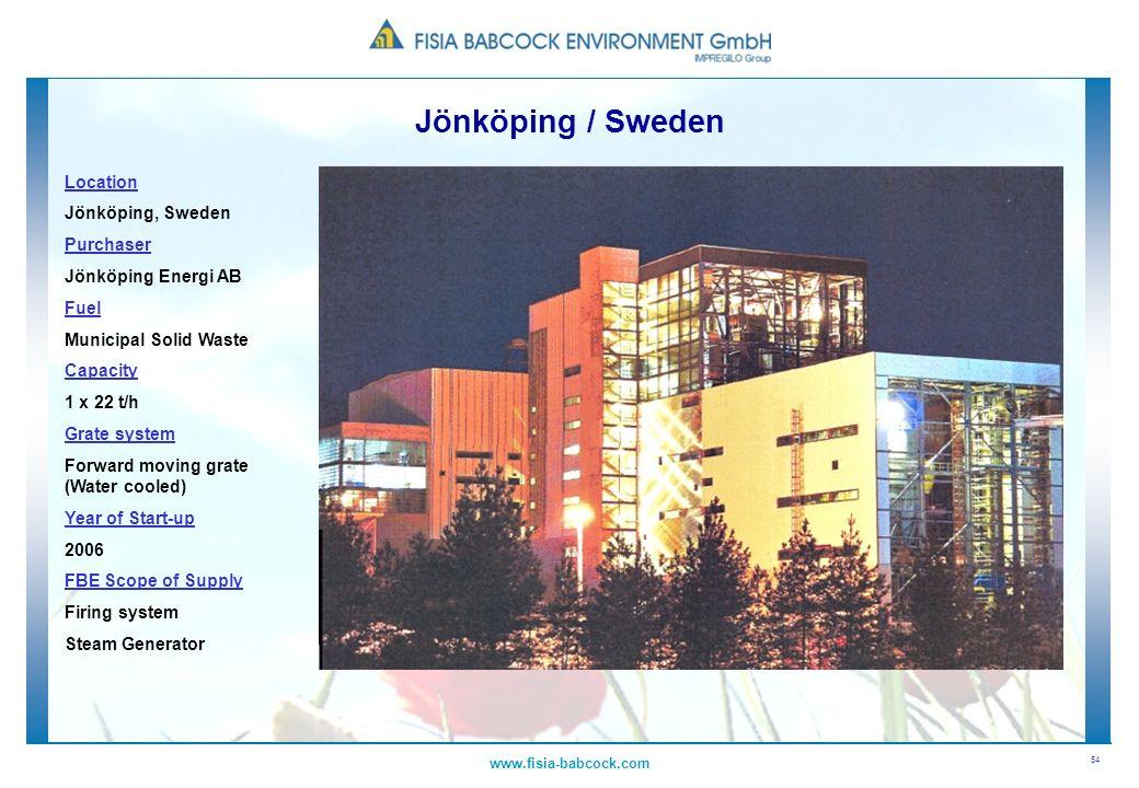 Jönköping / Sweden Location Jönköping, Sweden Purchaser