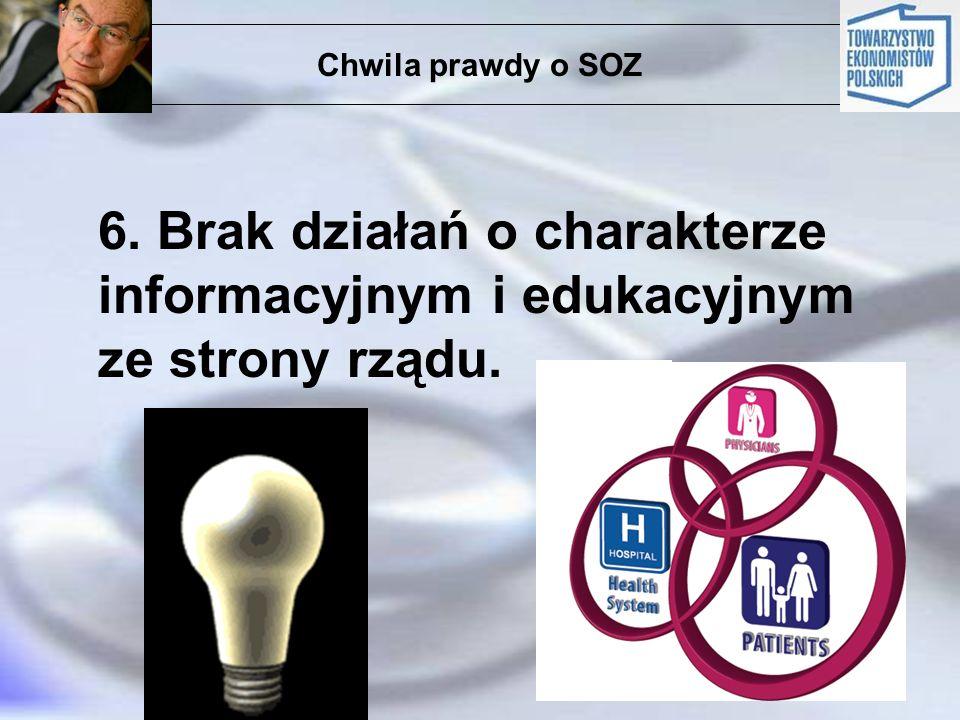Chwila prawdy o SOZ 6. Brak działań o charakterze informacyjnym i edukacyjnym ze strony rządu.