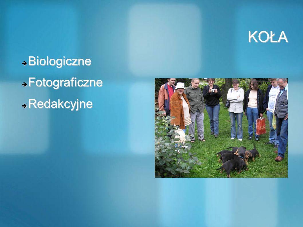KOŁA Biologiczne Fotograficzne Redakcyjne