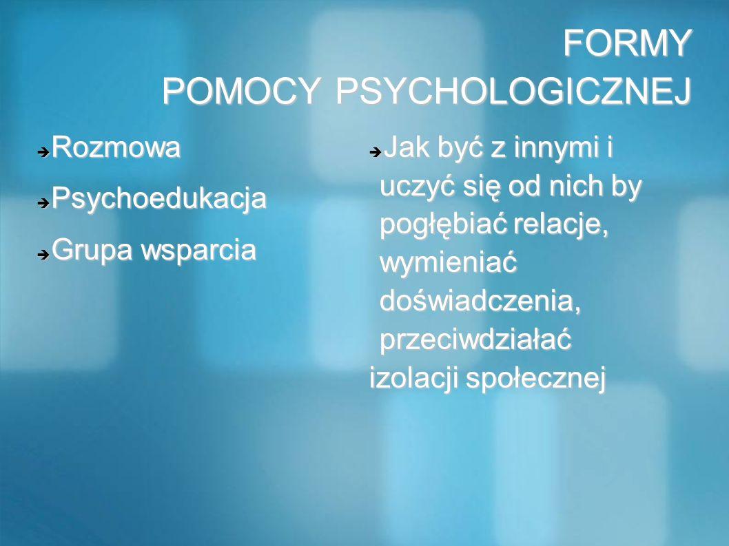 FORMY POMOCY PSYCHOLOGICZNEJ