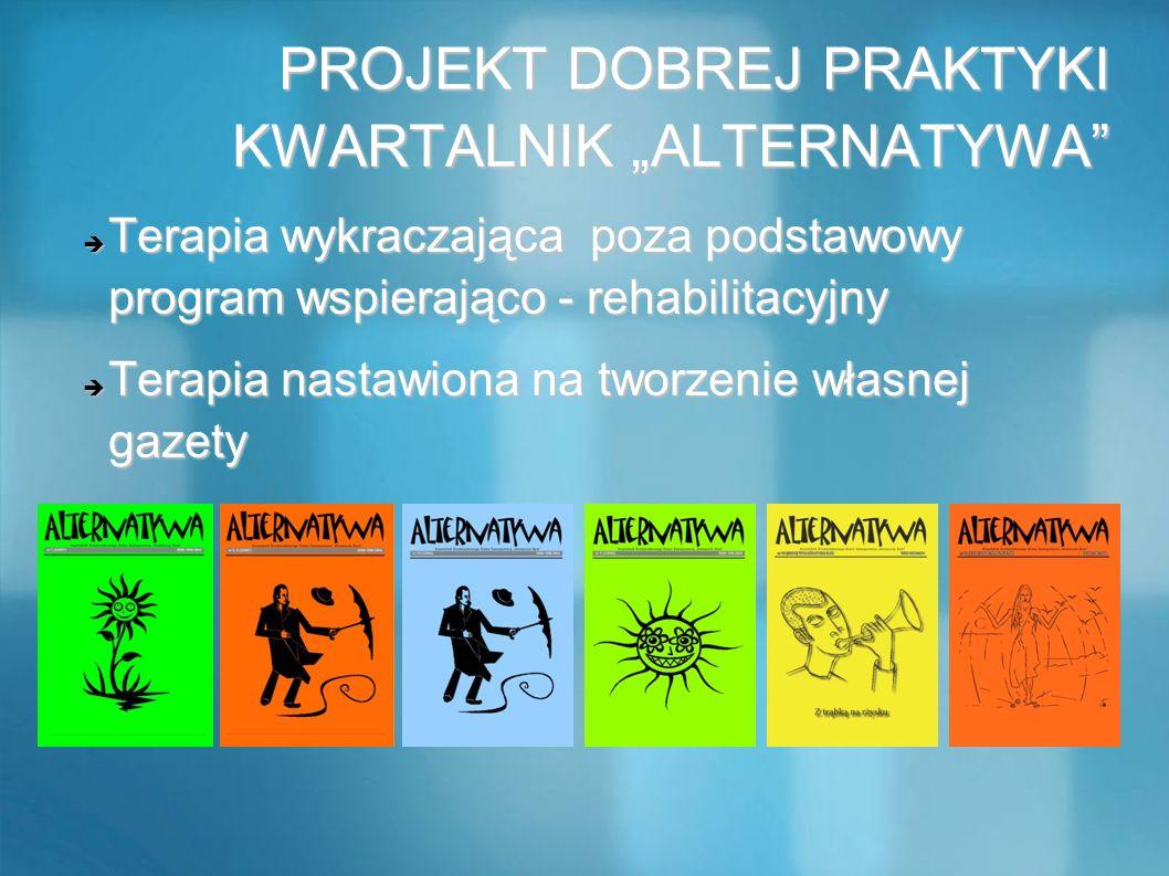 """PROJEKT DOBREJ PRAKTYKI KWARTALNIK """"ALTERNATYWA"""