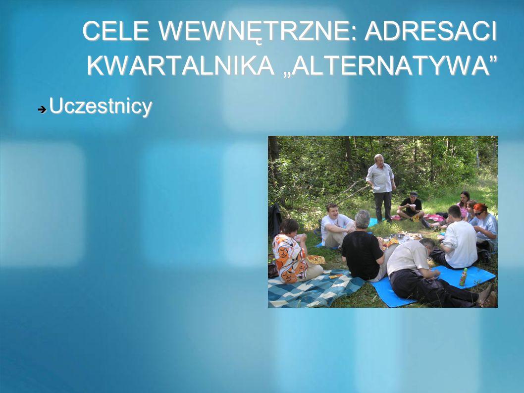 """CELE WEWNĘTRZNE: ADRESACI KWARTALNIKA """"ALTERNATYWA"""