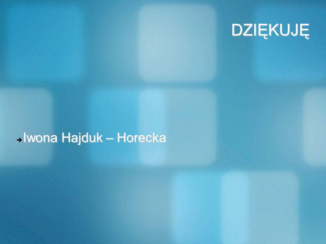 DZIĘKUJĘ Iwona Hajduk – Horecka