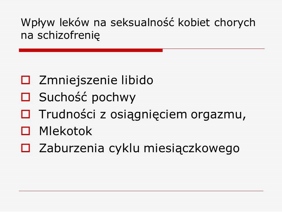 Wpływ leków na seksualność kobiet chorych na schizofrenię