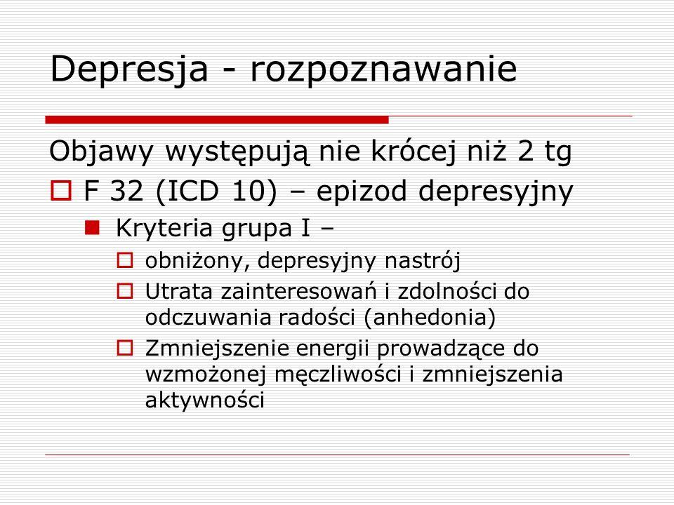 Depresja - rozpoznawanie