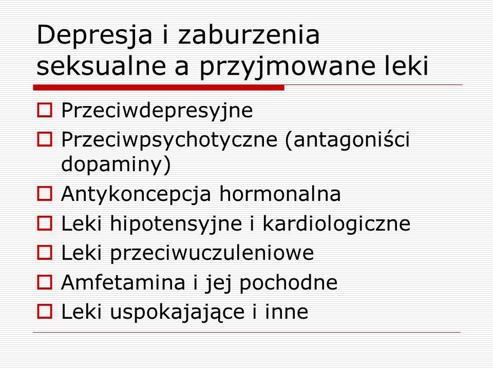 Depresja i zaburzenia seksualne a przyjmowane leki