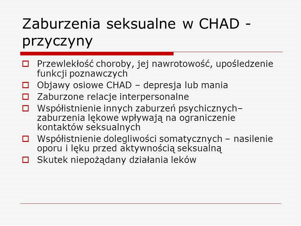Zaburzenia seksualne w CHAD - przyczyny