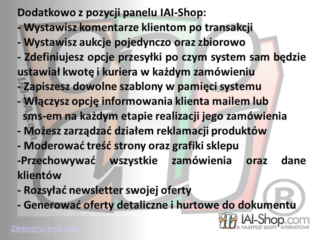 Zarejestruj swój sklep