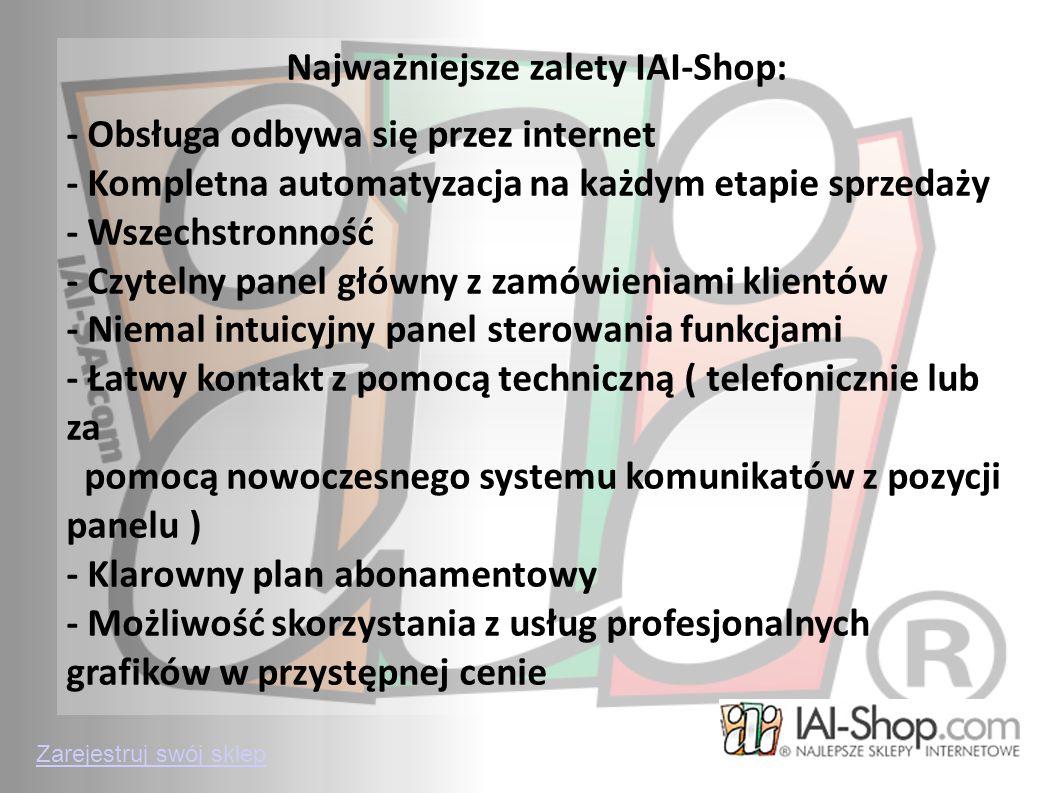 Najważniejsze zalety IAI-Shop: