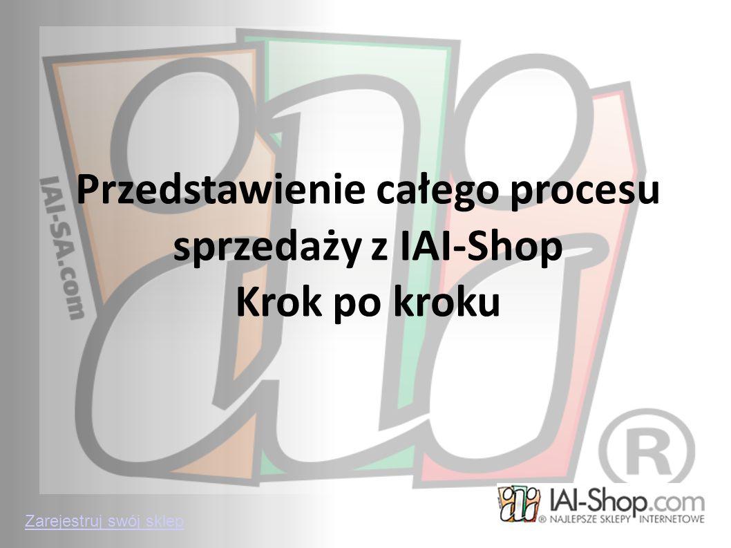 Przedstawienie całego procesu sprzedaży z IAI-Shop