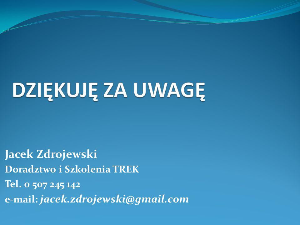 Jacek Zdrojewski Doradztwo i Szkolenia TREK Tel. 0 507 245 142
