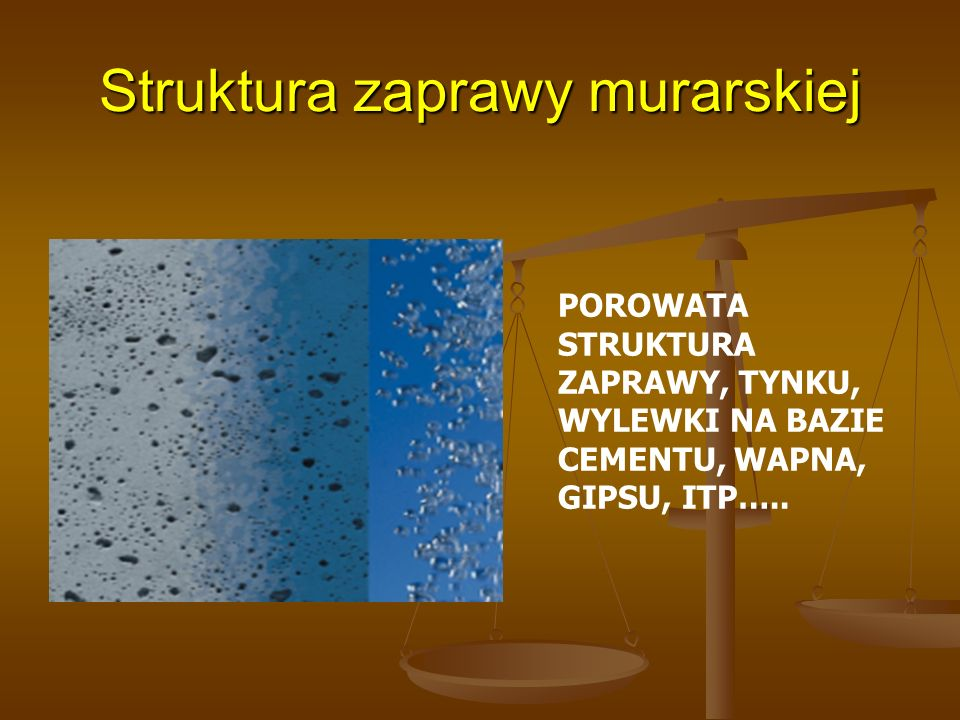 Struktura zaprawy murarskiej