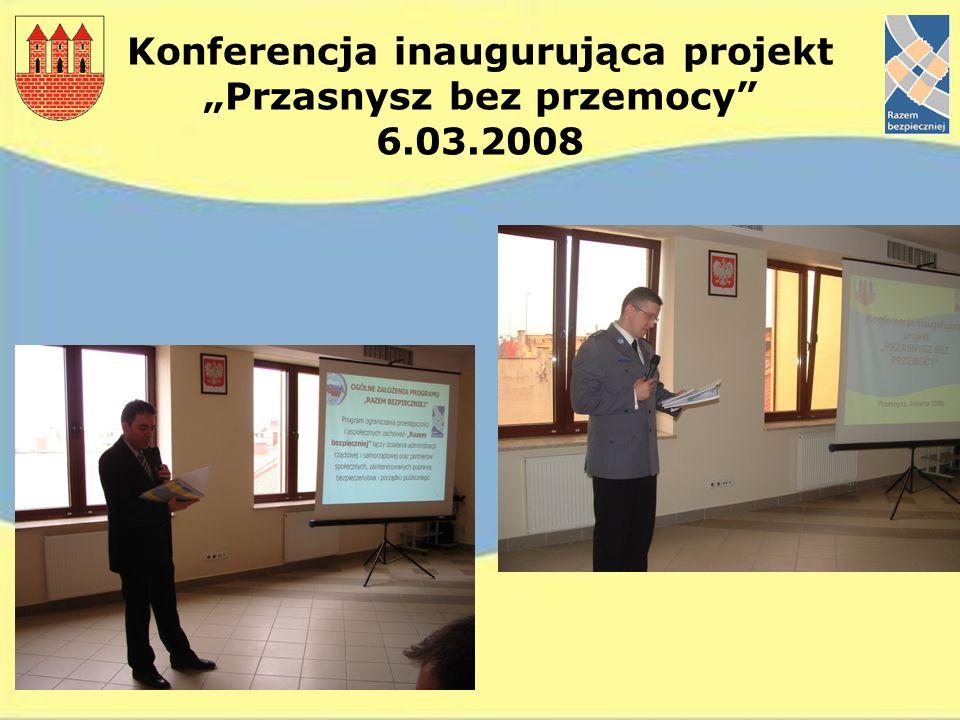 """Konferencja inaugurująca projekt """"Przasnysz bez przemocy 6.03.2008"""