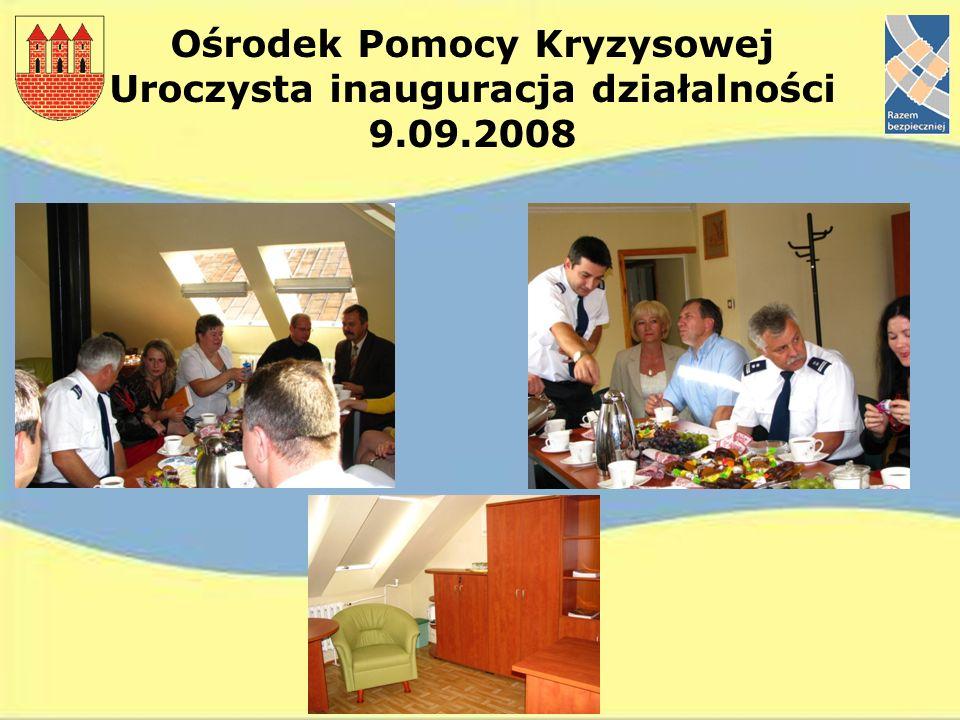 Ośrodek Pomocy Kryzysowej Uroczysta inauguracja działalności 9.09.2008