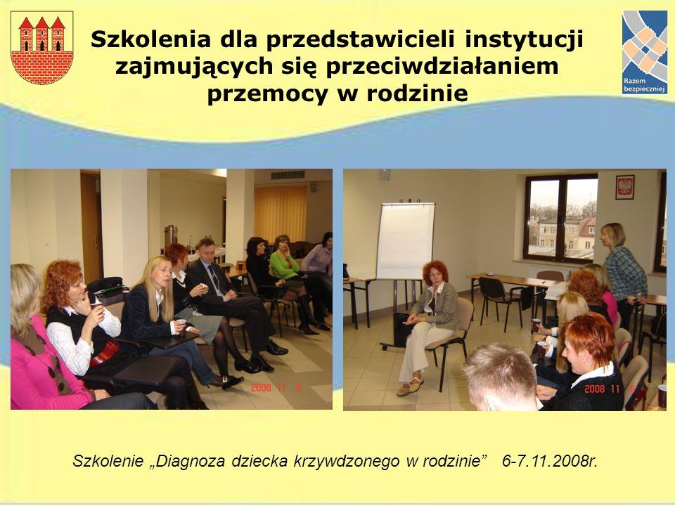 """Szkolenie """"Diagnoza dziecka krzywdzonego w rodzinie 6-7.11.2008r."""