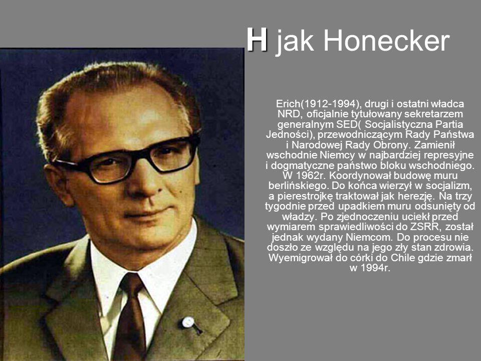 H jak Honecker