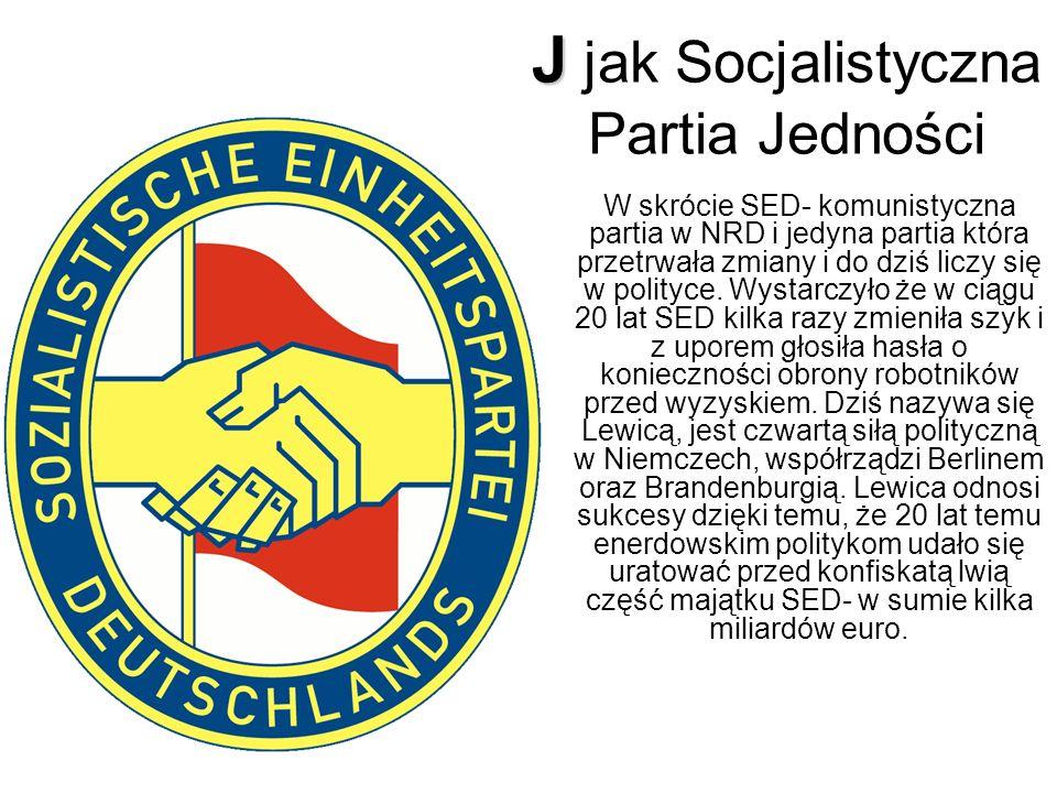 J jak Socjalistyczna Partia Jedności
