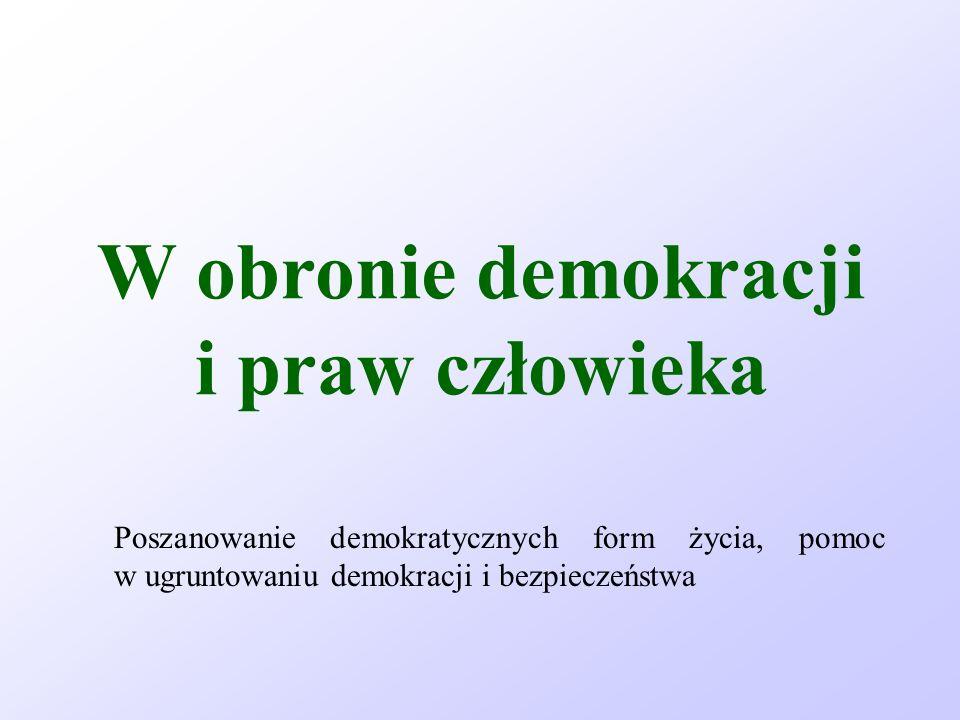 W obronie demokracji i praw człowieka
