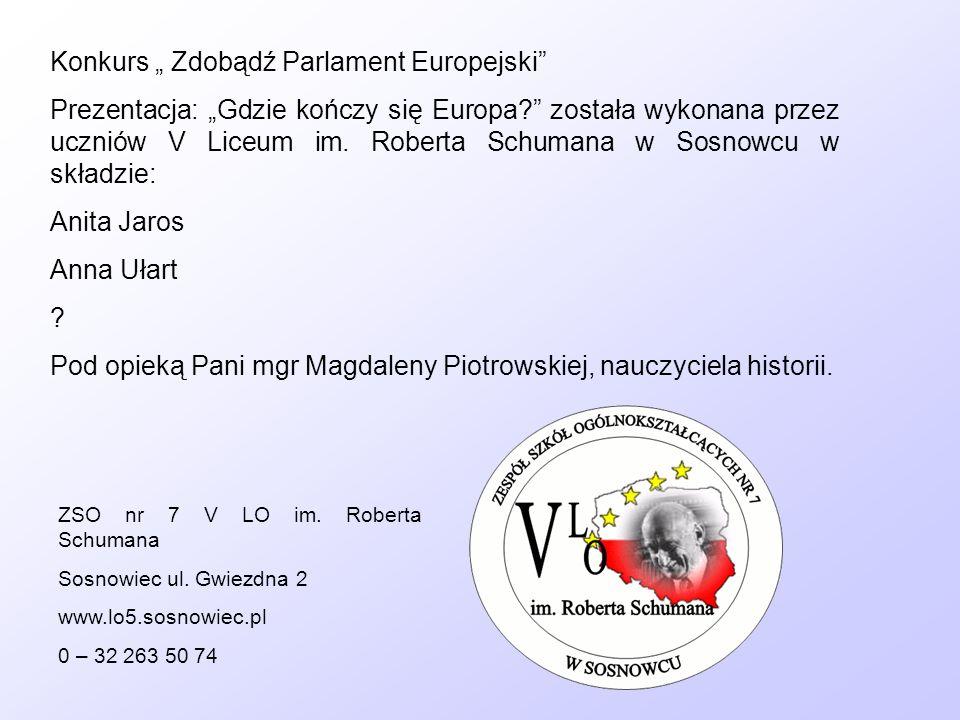"Konkurs "" Zdobądź Parlament Europejski"