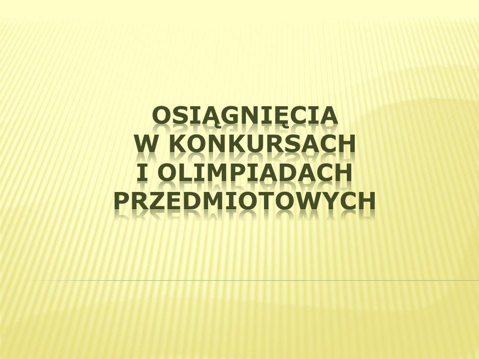 Osiągnięcia w konkursach i olimpiadach przedmiotowych