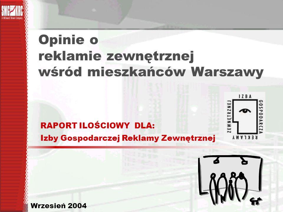 Opinie o reklamie zewnętrznej wśród mieszkańców Warszawy