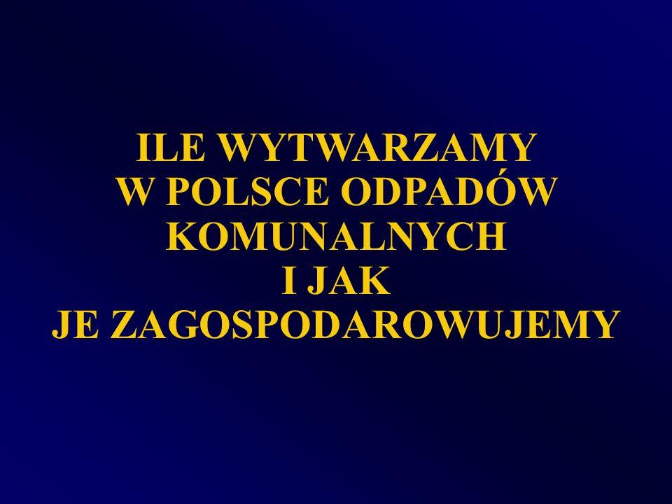 W POLSCE ODPADÓW KOMUNALNYCH