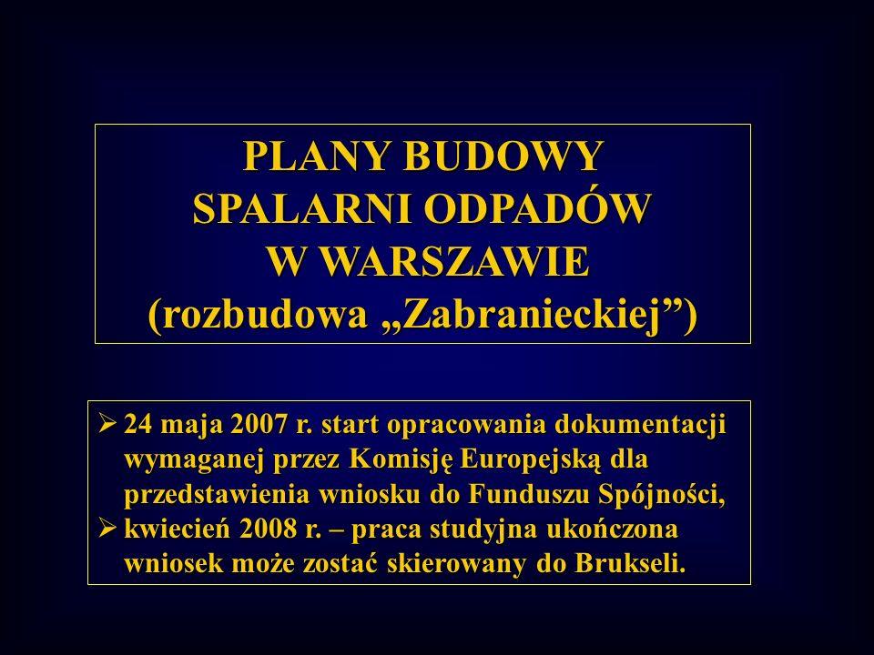 """SPALARNI ODPADÓW W WARSZAWIE (rozbudowa """"Zabranieckiej )"""