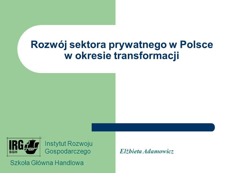 Rozwój sektora prywatnego w Polsce w okresie transformacji