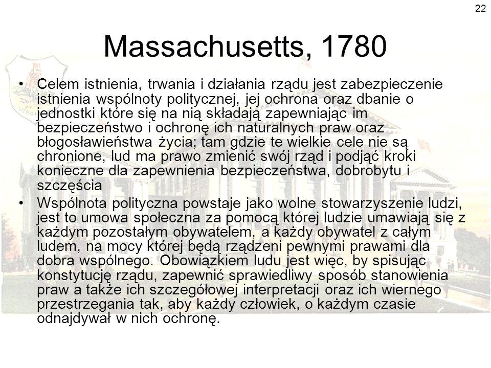 Massachusetts, 1780