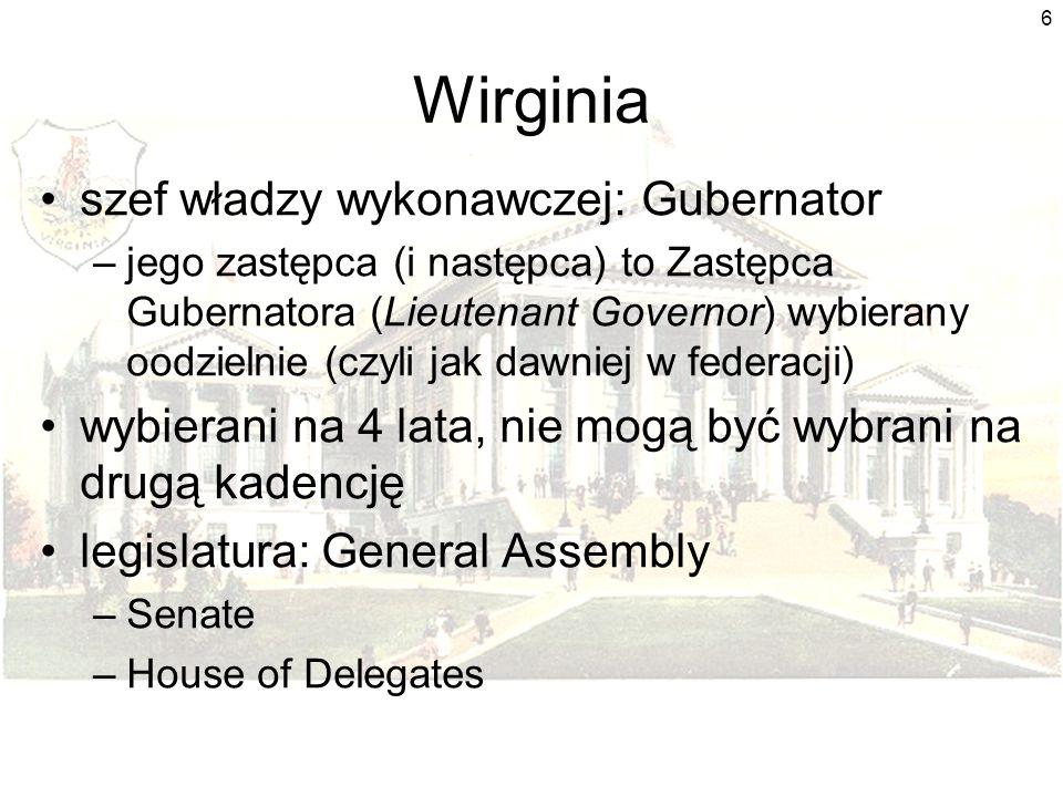 Wirginia szef władzy wykonawczej: Gubernator