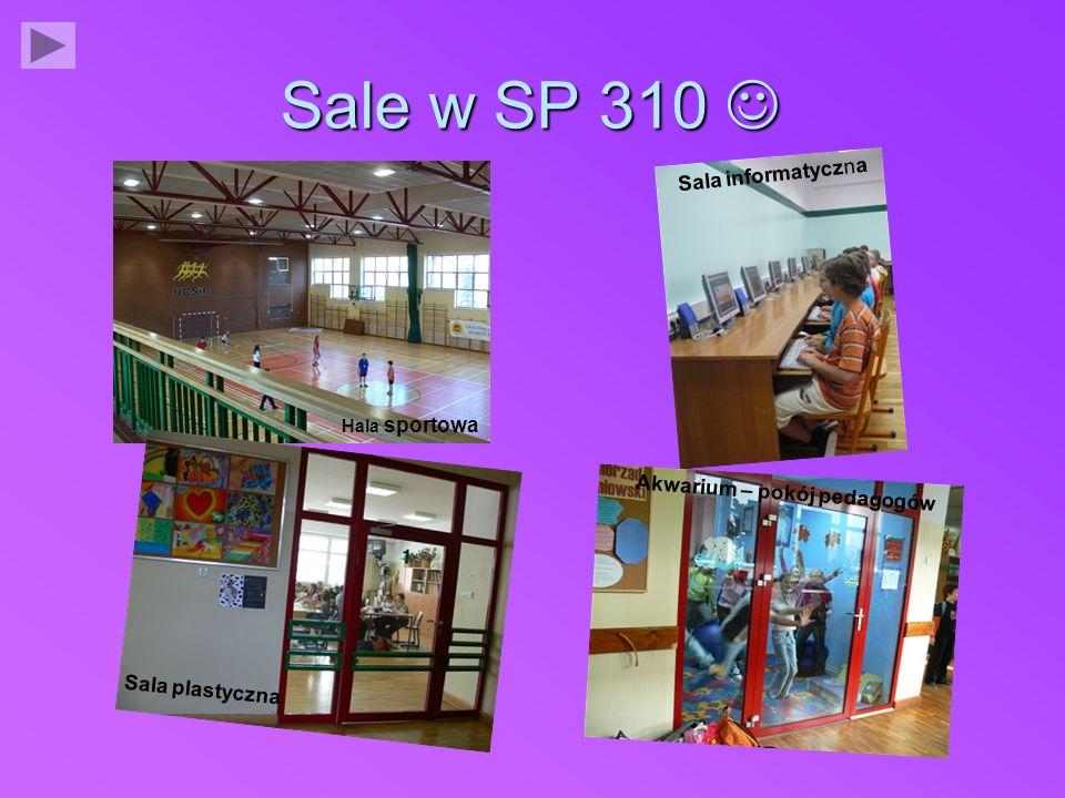 Sale w SP 310  Sala informatyczna Akwarium – pokój pedagogów