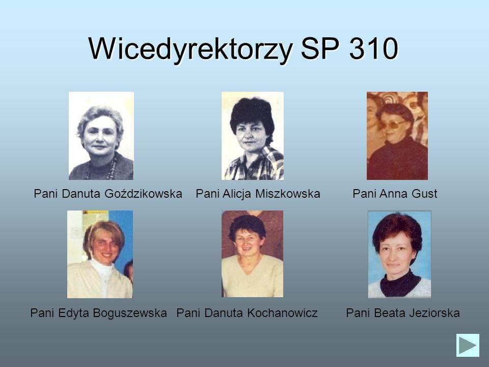 Wicedyrektorzy SP 310 Pani Danuta Goździkowska Pani Alicja Miszkowska
