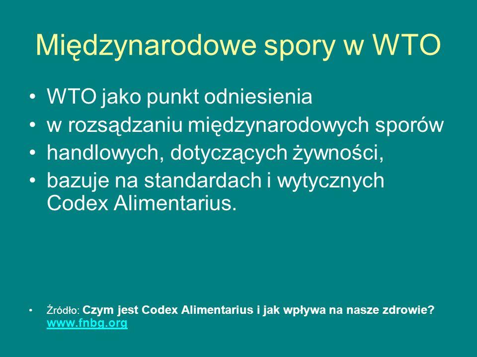 Międzynarodowe spory w WTO