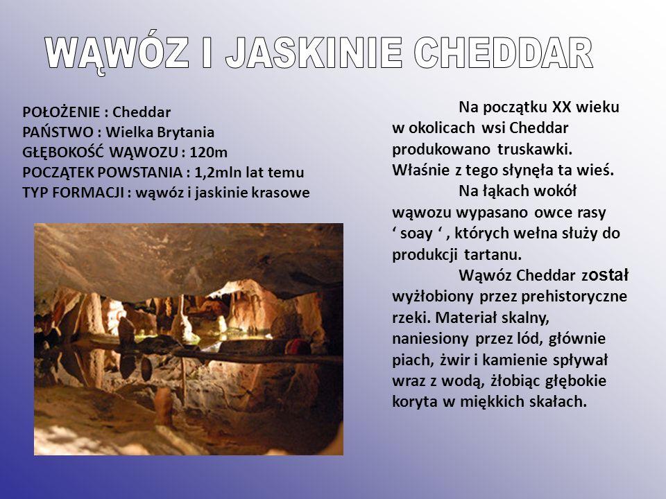 WĄWÓZ I JASKINIE CHEDDAR