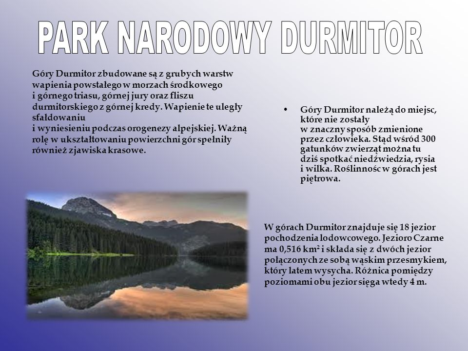PARK NARODOWY DURMITOR