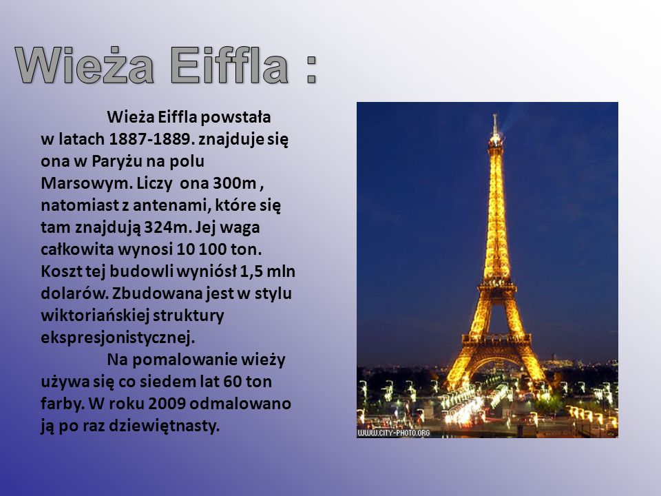Wieża Eiffla :