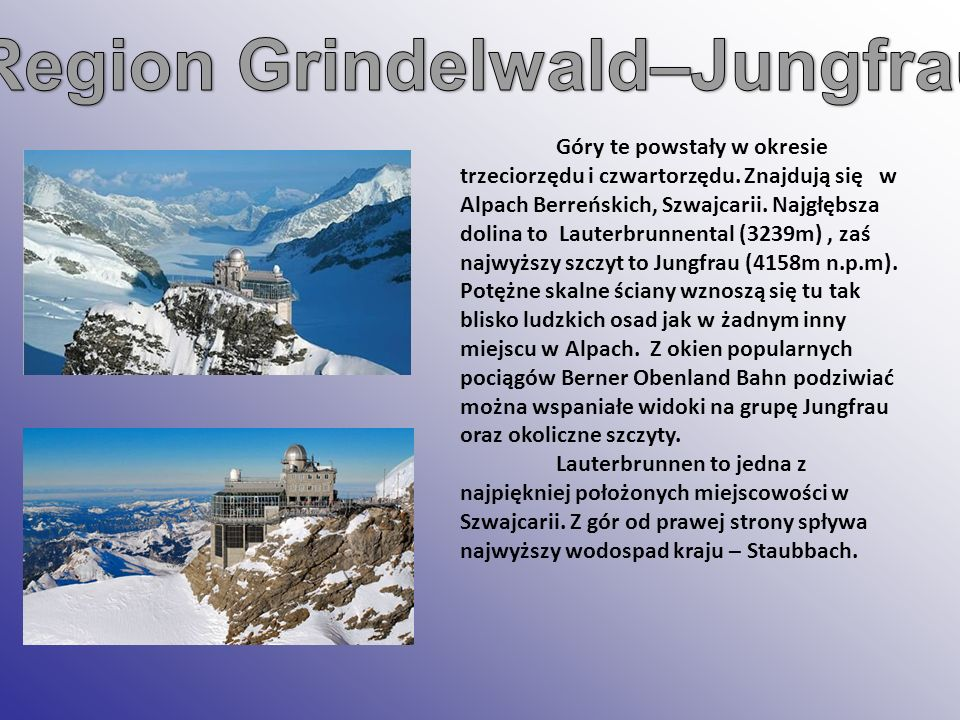 Region Grindelwald–Jungfrau: