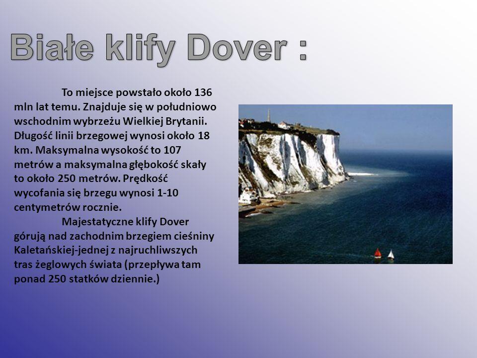 Białe klify Dover :