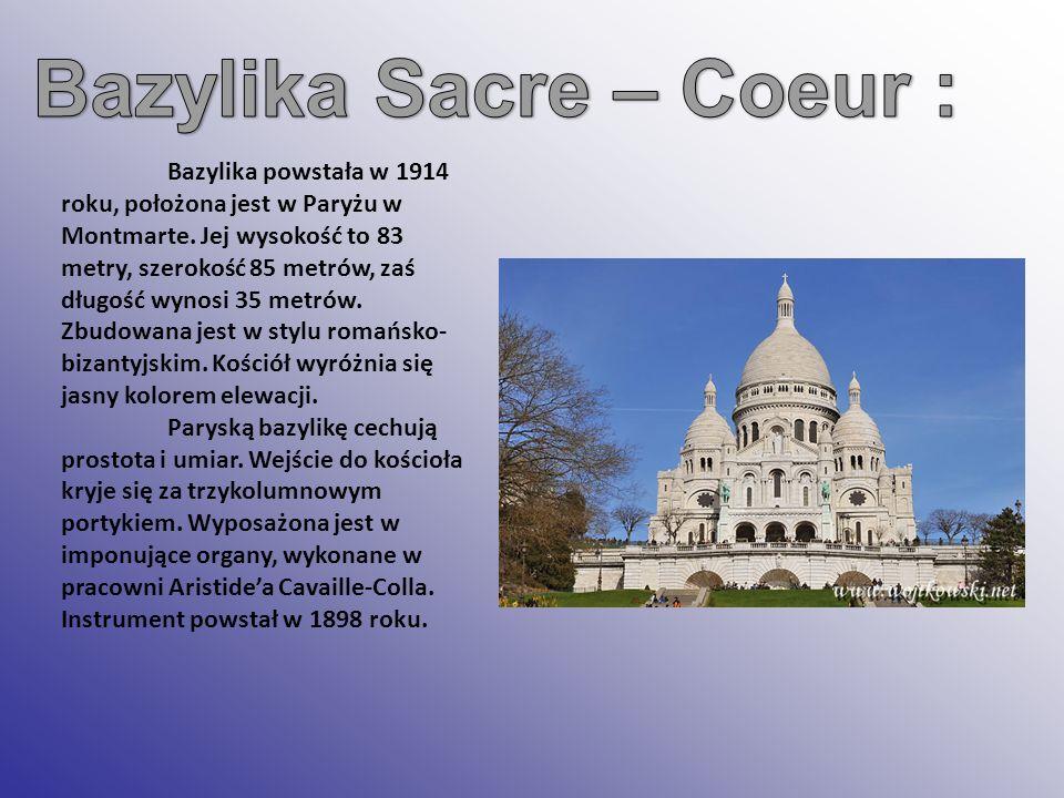 Bazylika Sacre – Coeur :