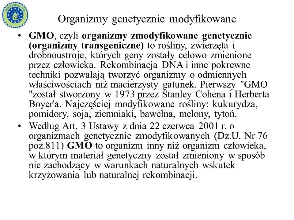 Organizmy genetycznie modyfikowane