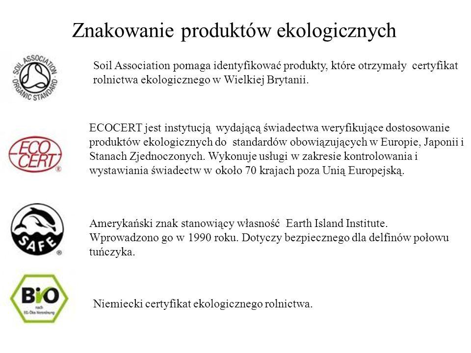 Znakowanie produktów ekologicznych