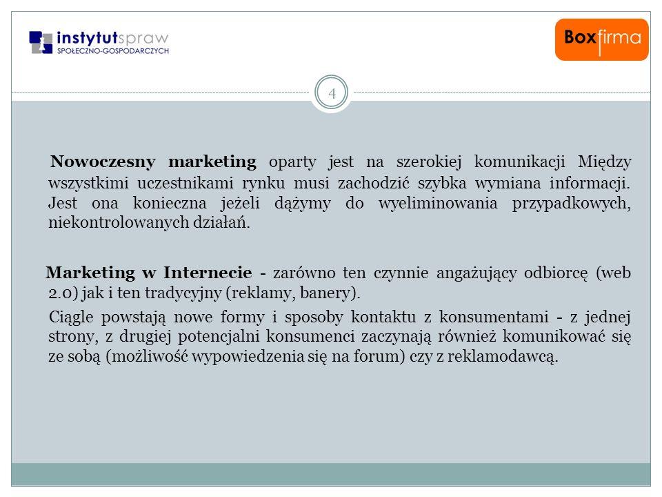 Nowoczesny marketing oparty jest na szerokiej komunikacji Między wszystkimi uczestnikami rynku musi zachodzić szybka wymiana informacji. Jest ona konieczna jeżeli dążymy do wyeliminowania przypadkowych, niekontrolowanych działań.