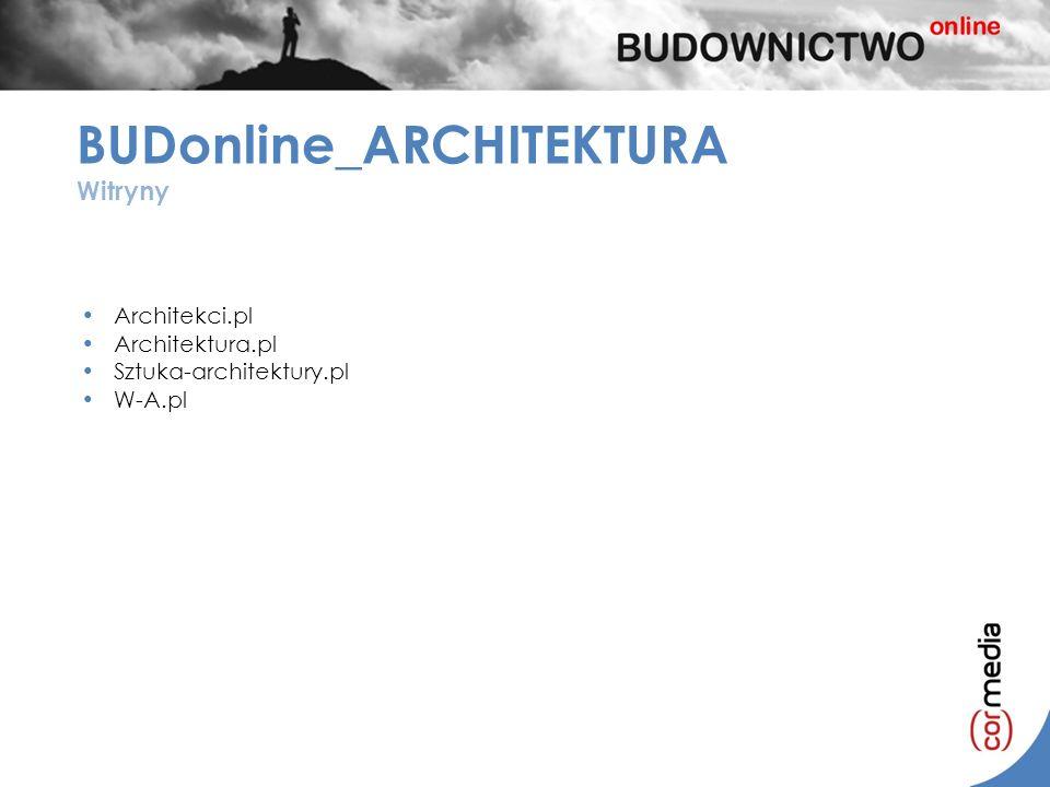 BUDonline_ARCHITEKTURA Witryny