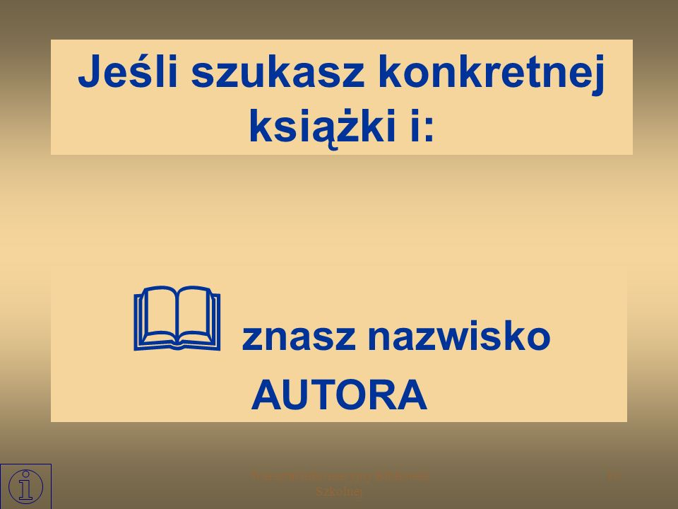 Jeśli szukasz konkretnej książki i: